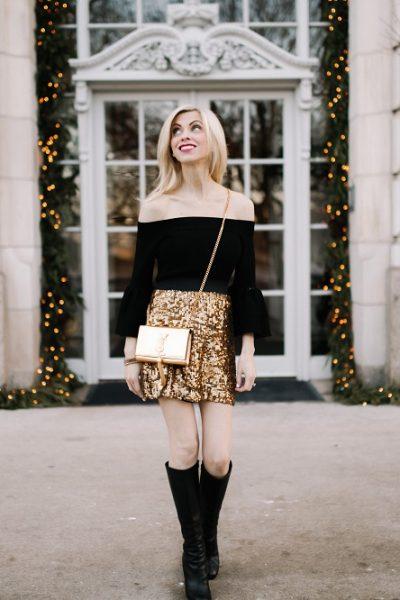 Gold Sequin Mini