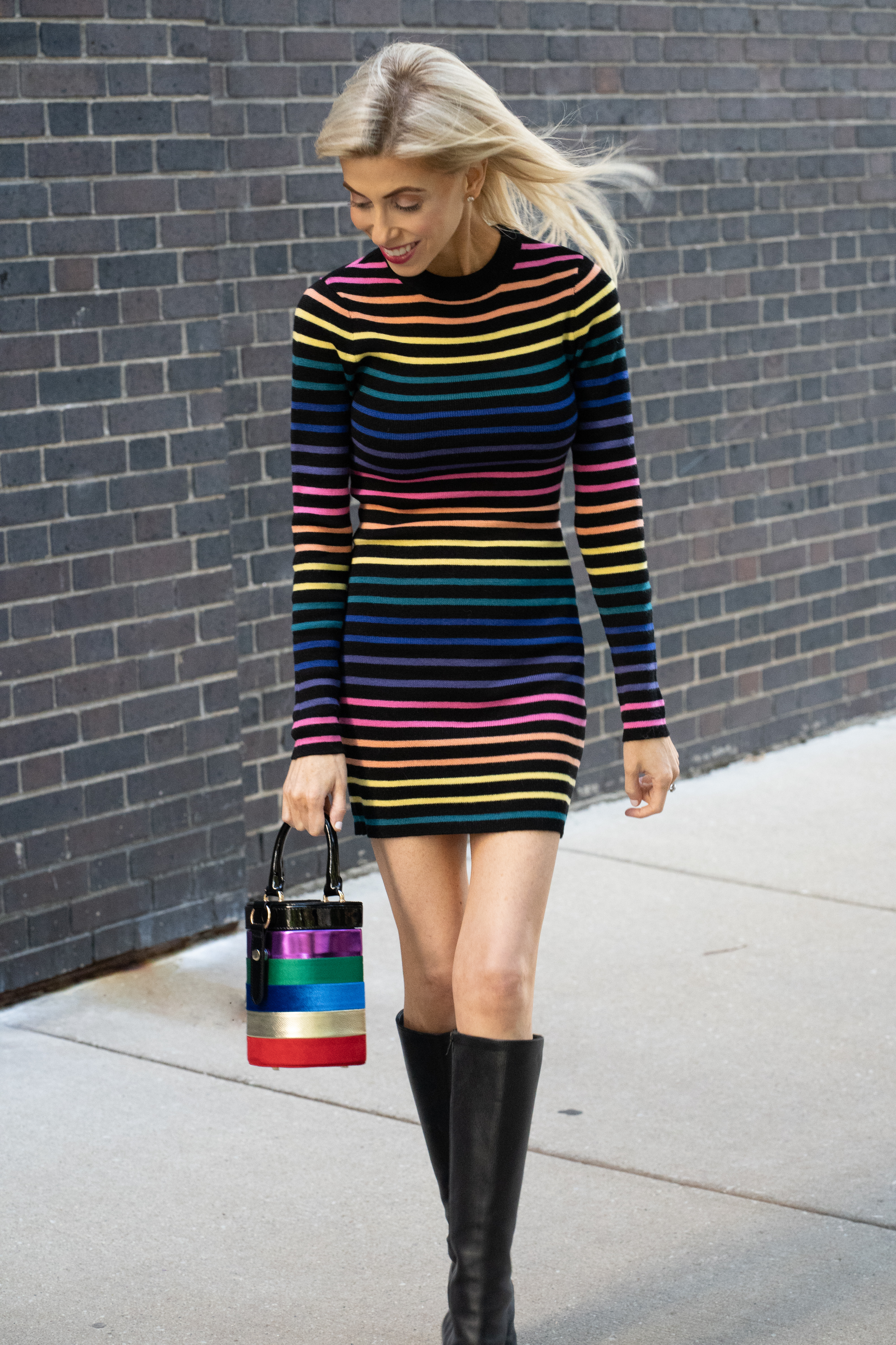 I just love 'wearing the rainbow'! It's just so fun to wear